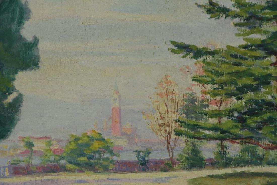 FREDER, Frederick. Four Oil on Canvas Landscapes. - 4