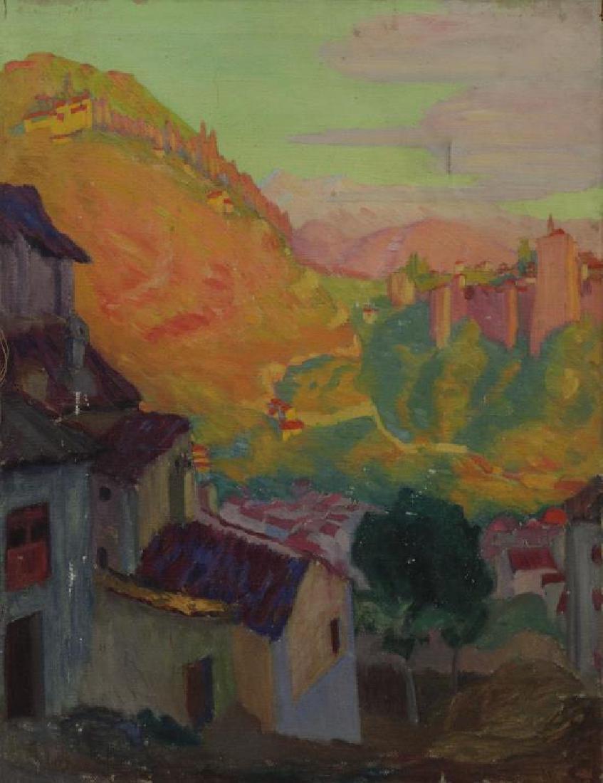 FREDER, Frederick. Four Oil on Canvas Landscapes. - 7