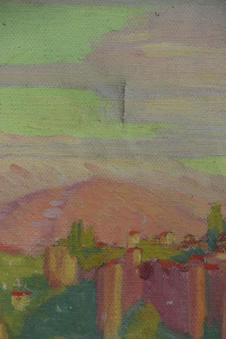 FREDER, Frederick. Four Oil on Canvas Landscapes. - 8