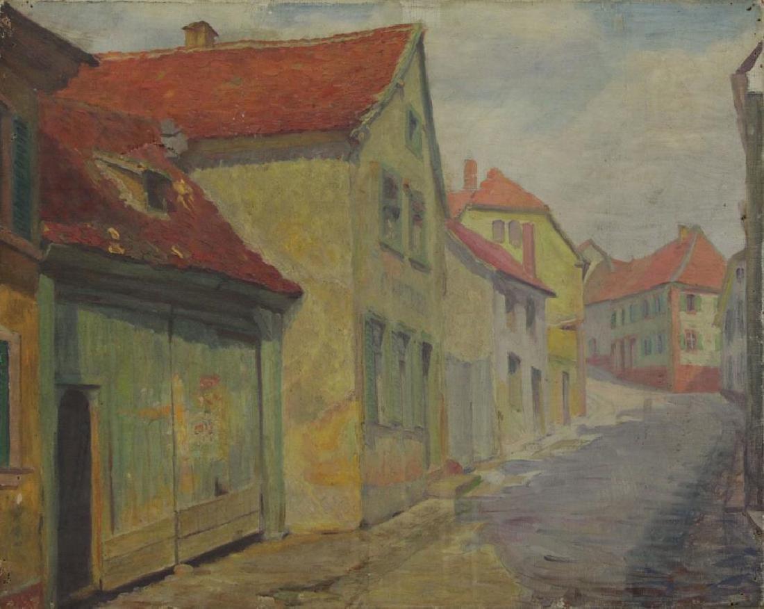 FREDER, Frederick. Four Oils on Canvas. - 6