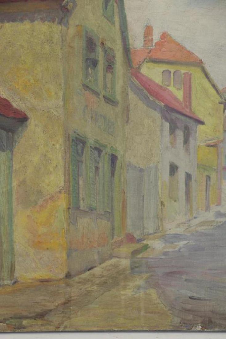 FREDER, Frederick. Four Oils on Canvas. - 8