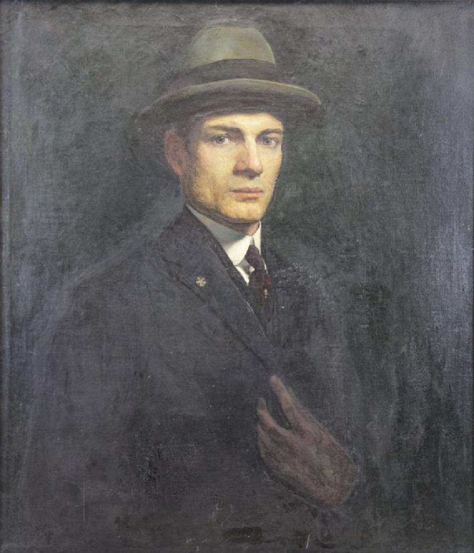 FREDER, Frederick. Oil on Canvas. Portrait of the