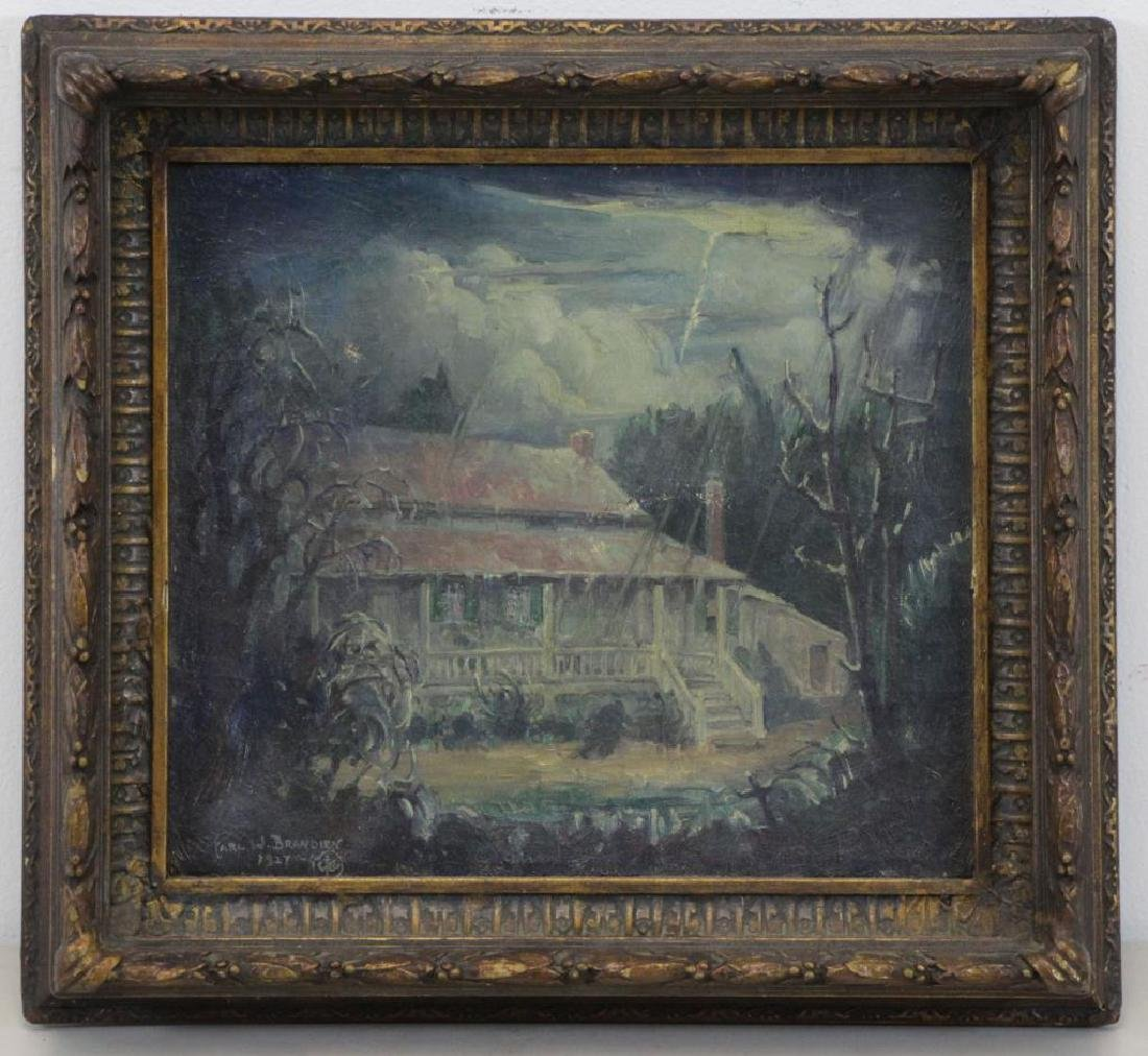 "BRANDIEN, Carl. Oil on Canvas ""The Poe - 2"