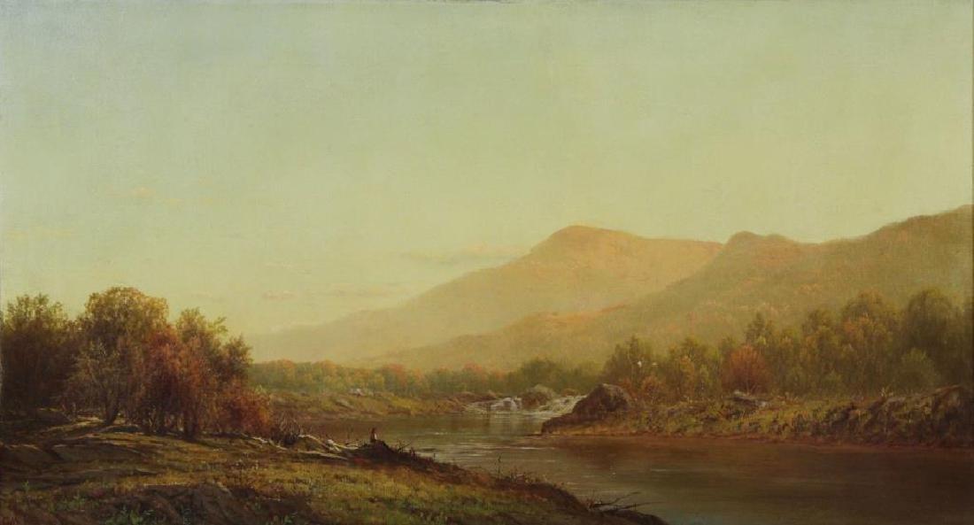 KNAPP, Charles W. Oil on Canvas. Bear Mountain.