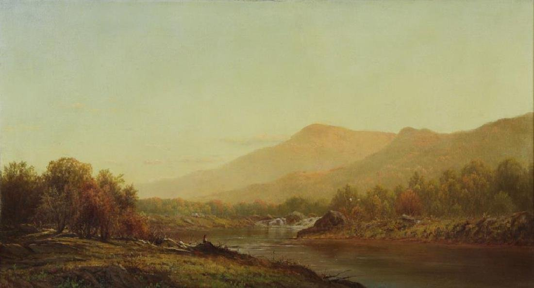 KNAPP, Charles W. Oil on Canvas. Bear Mountain.