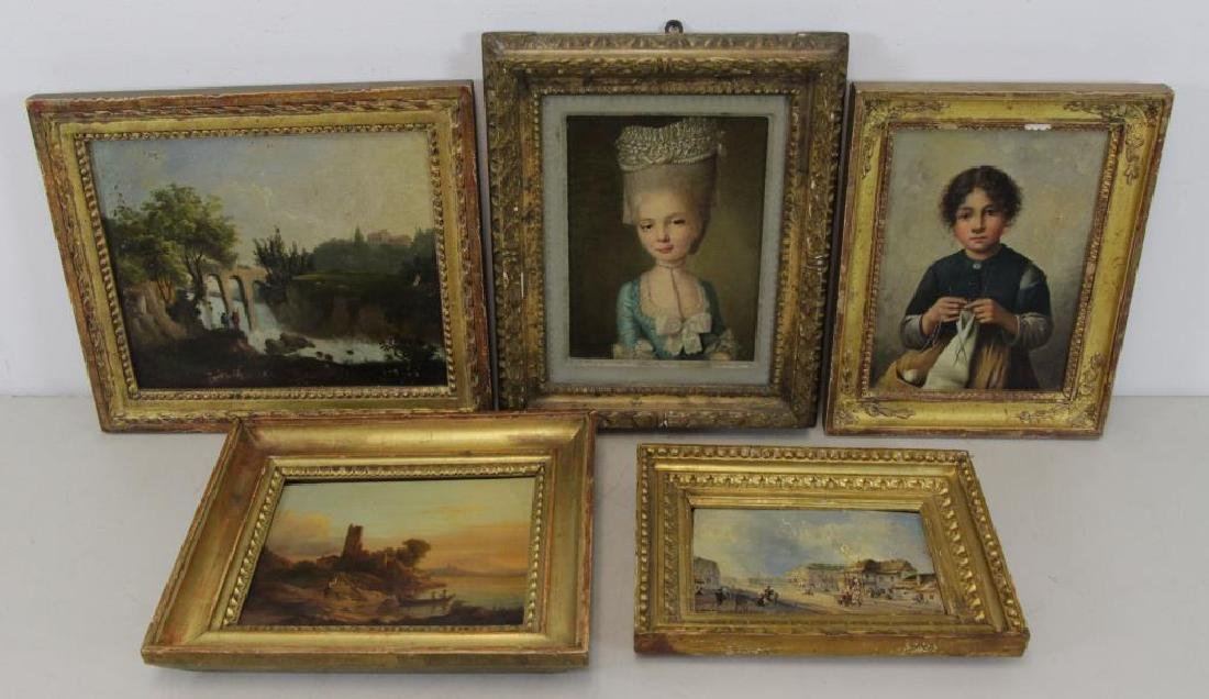 Lot of Five (5) 18th/19th Century Oil Paintings. - 2