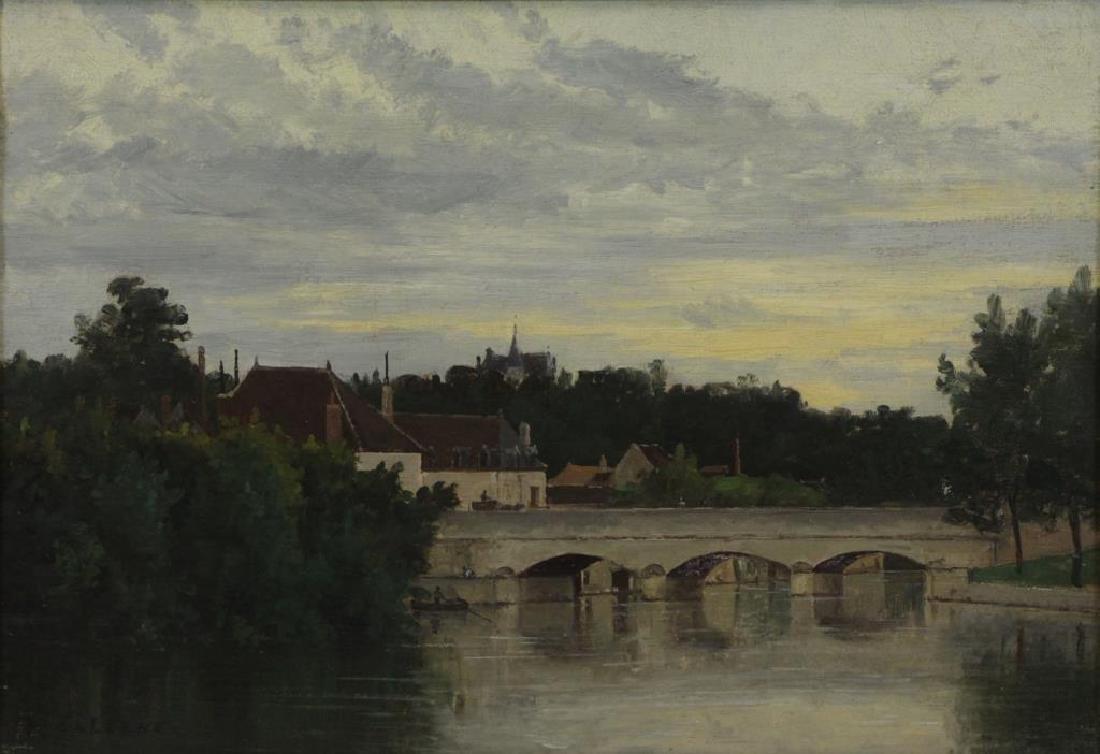 GALERNE, Prosper. Oil on Canvas. Saint Menard