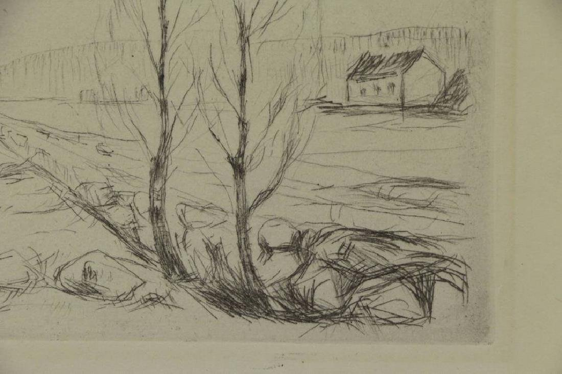 MUNCH, Edvard. Etching. Norwegian Landscape. - 3