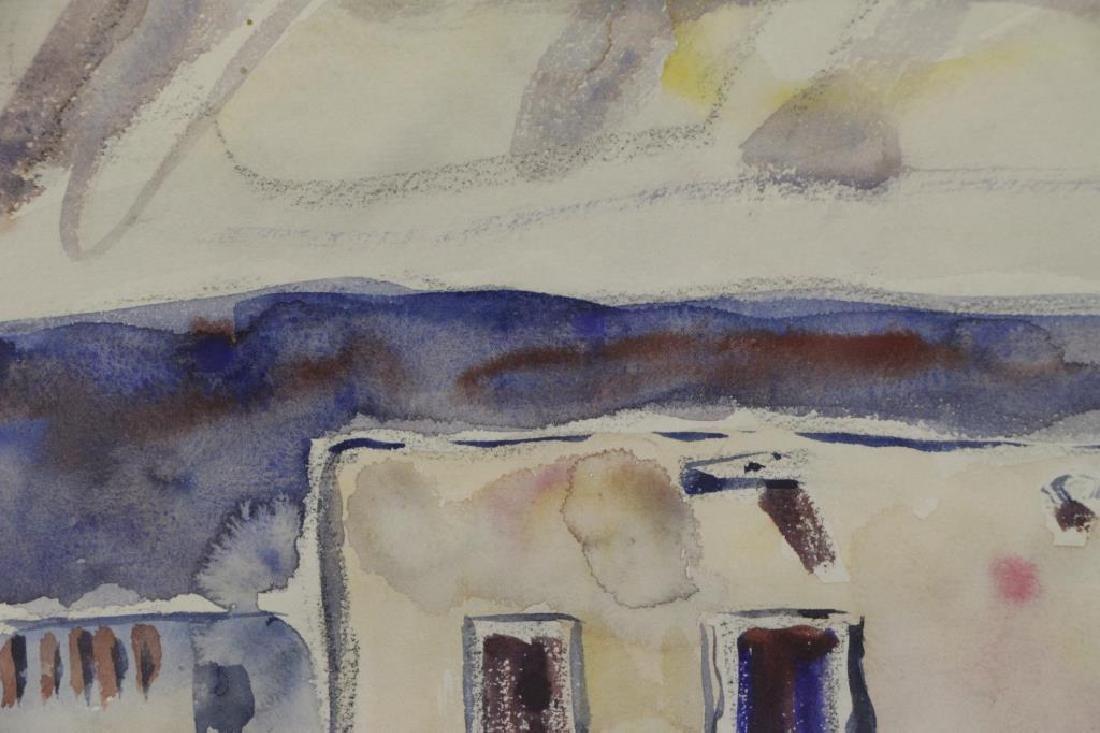 TUCKER, Allen. Watercolor. Southwestern Church. - 5