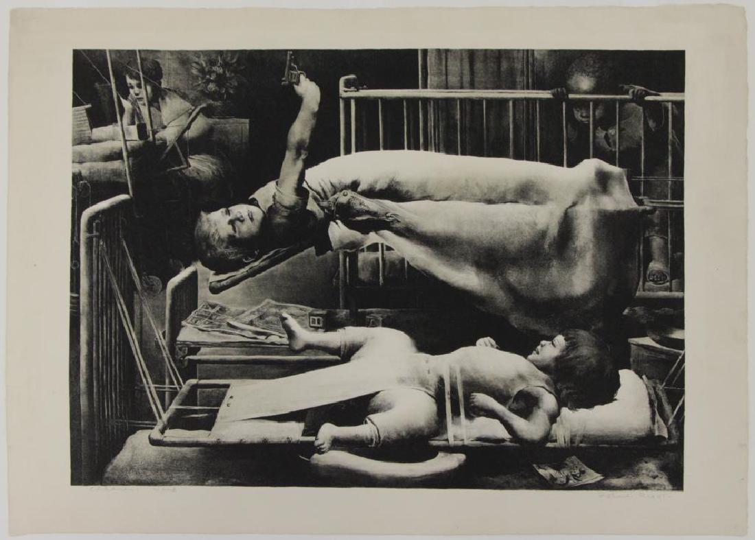 RIGGS, Robert. Lithograph. Children's Ward. - 8
