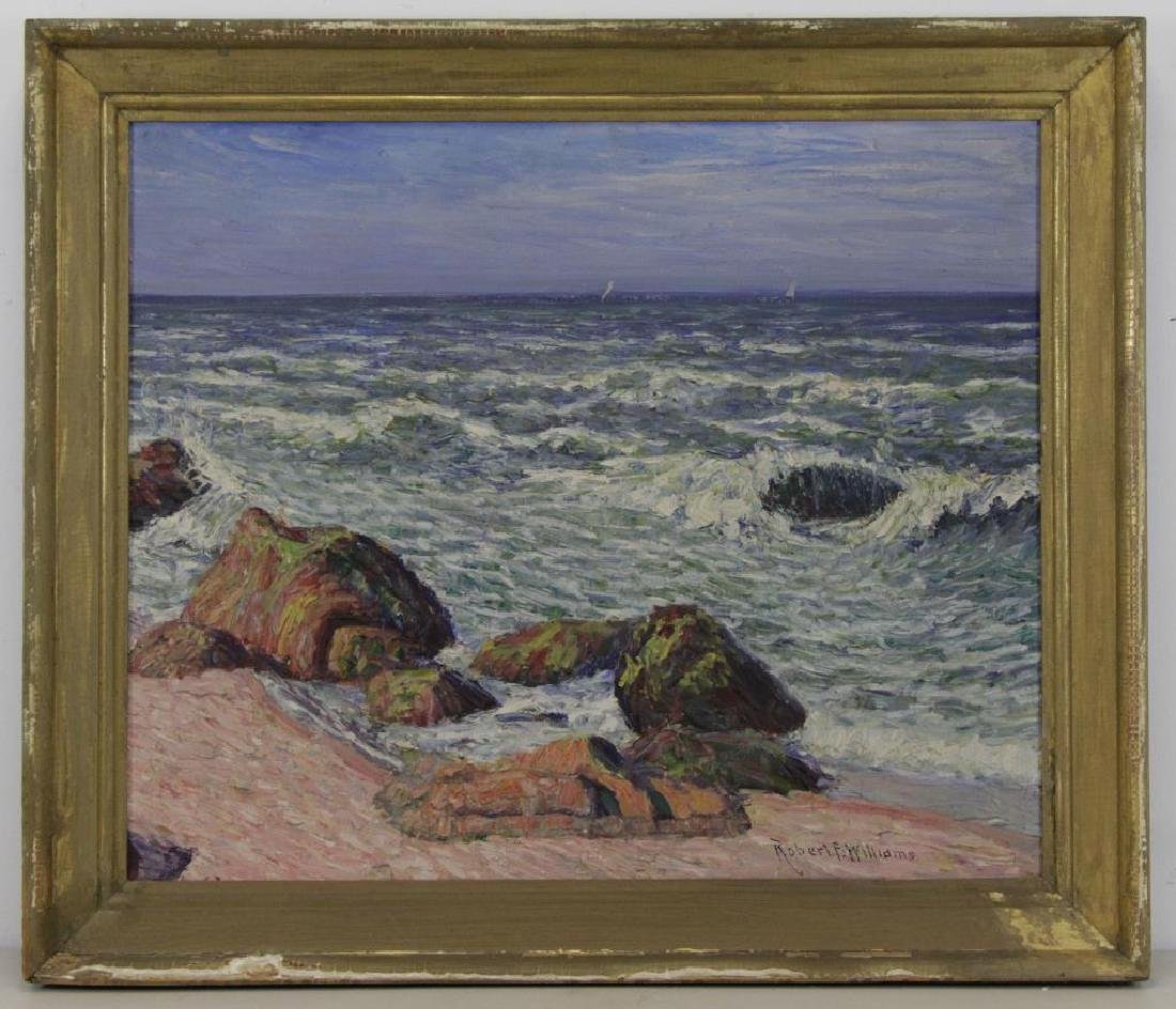 WILLIAMS, Robert F. Oil on Canvas. Seascape. - 2