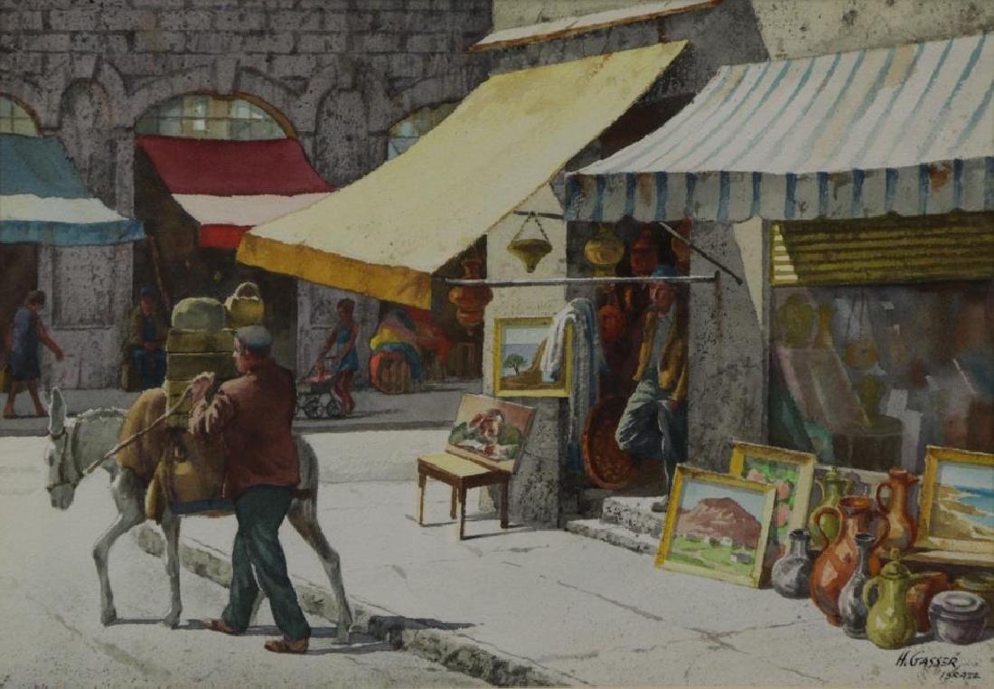GASSER, Henry. Pair of Israeli Street Scenes. - 3