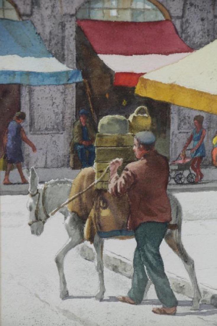 GASSER, Henry. Pair of Israeli Street Scenes. - 4
