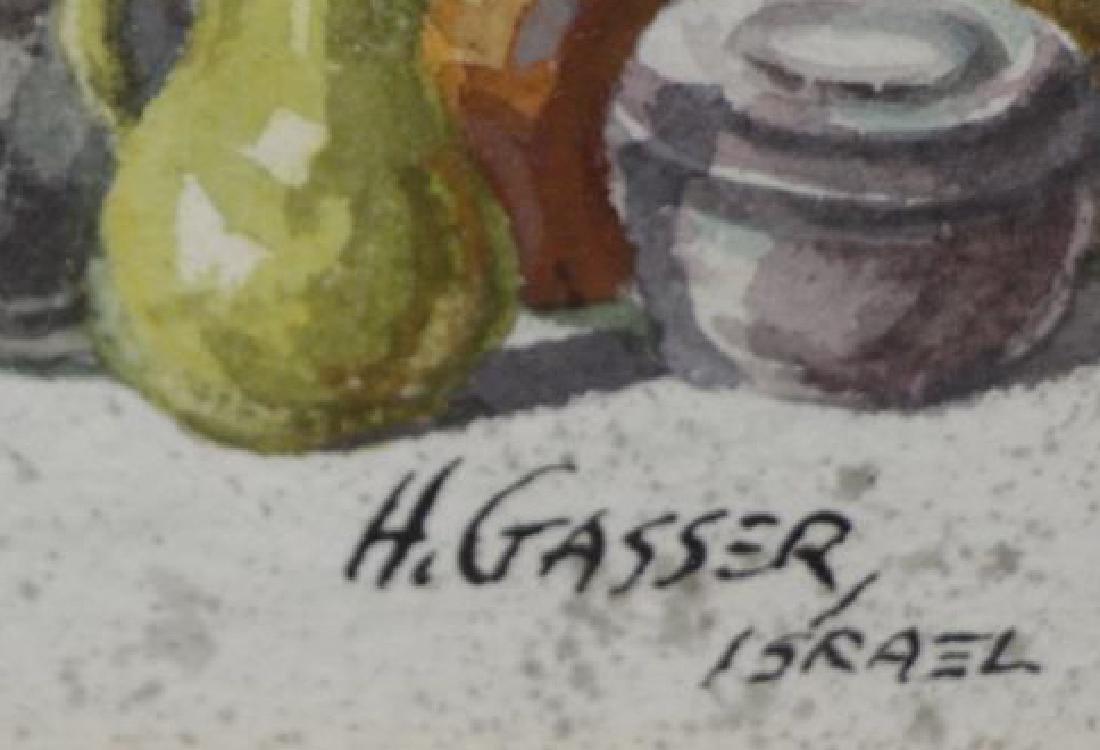 GASSER, Henry. Pair of Israeli Street Scenes. - 6
