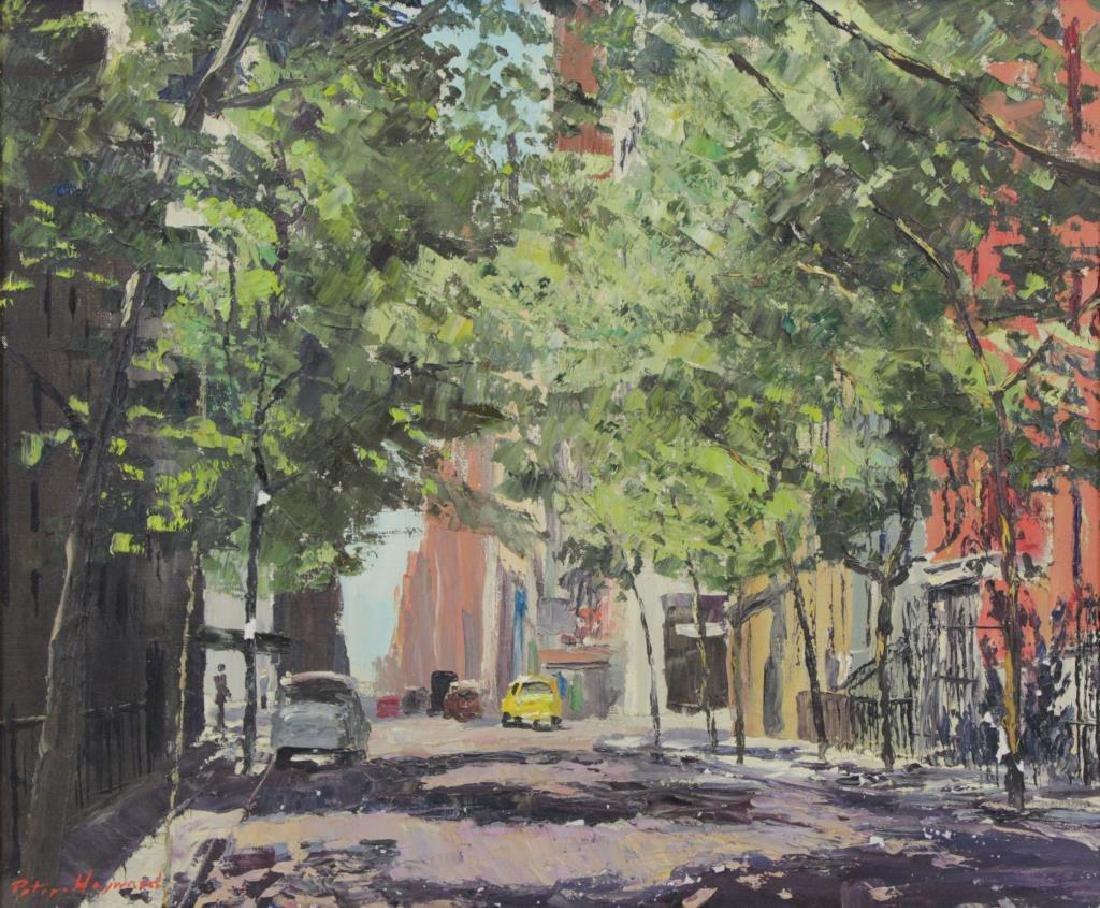 HAYWARD, Peter. Oil on Canvas. New York Street