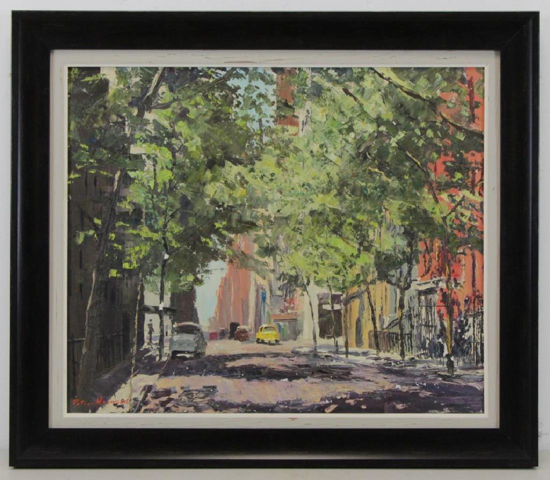 HAYWARD, Peter. Oil on Canvas. New York Street - 2