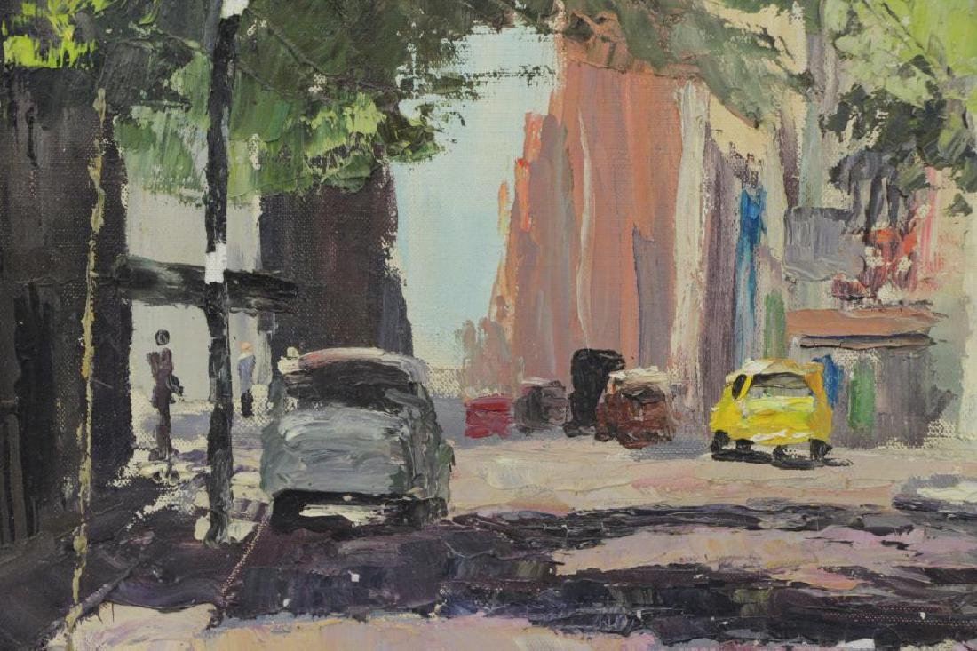 HAYWARD, Peter. Oil on Canvas. New York Street - 3