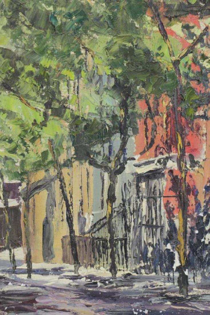 HAYWARD, Peter. Oil on Canvas. New York Street - 4