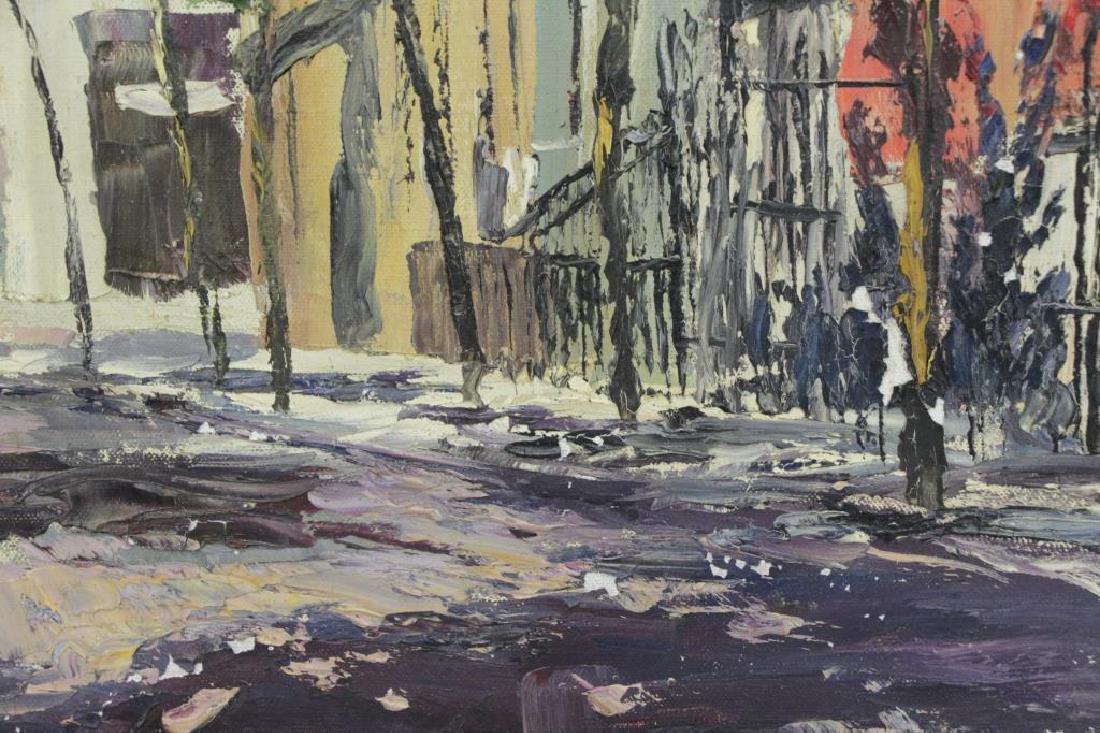 HAYWARD, Peter. Oil on Canvas. New York Street - 7