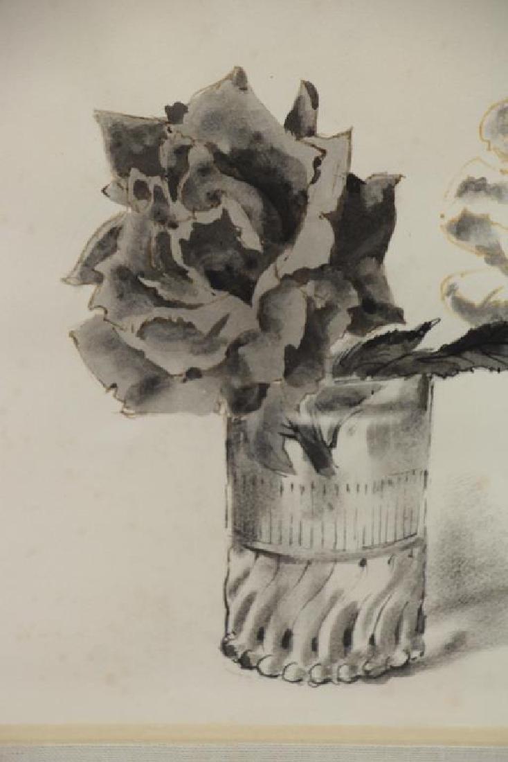 TRUEX, Van Day. Two Ink Wash Drawings on Paper. - 4