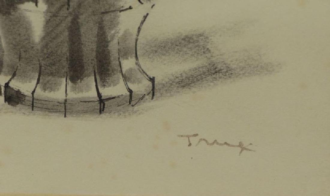TRUEX, Van Day. Two Ink Wash Drawings on Paper. - 5