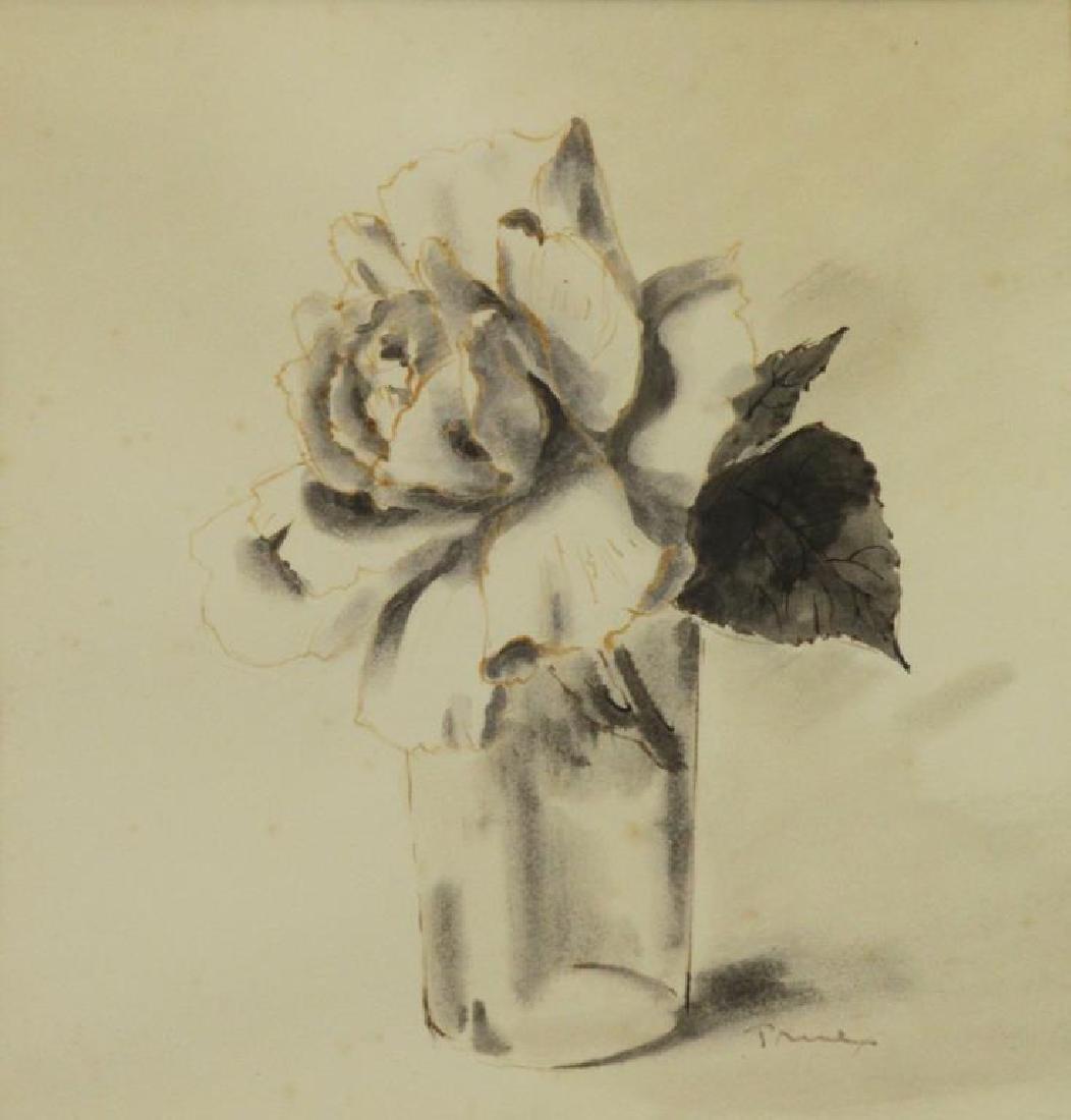TRUEX, Van Day. Two Ink Wash Drawings on Paper. - 6