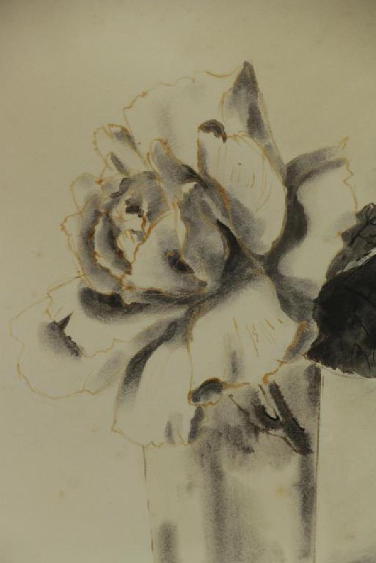 TRUEX, Van Day. Two Ink Wash Drawings on Paper. - 7