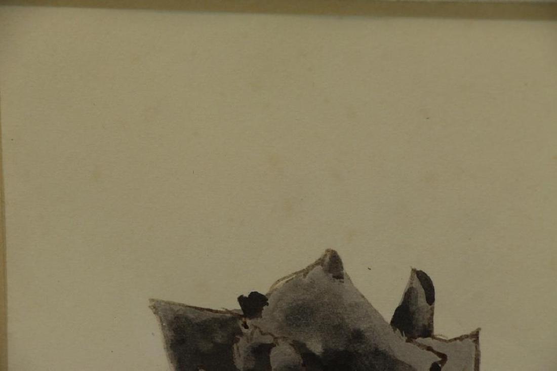 TRUEX, Van Day. Two Ink Wash Drawings on Paper. - 9