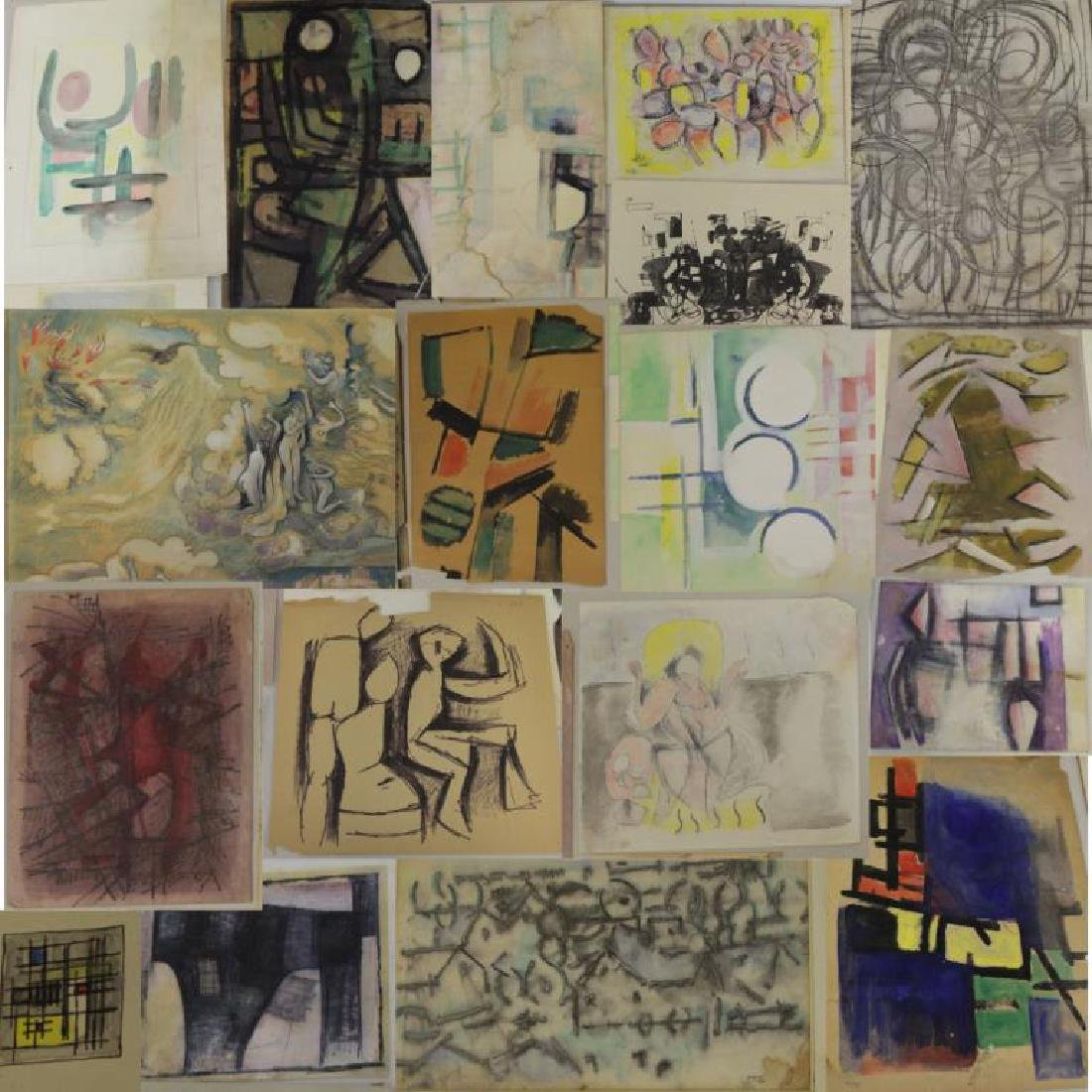 XCERON, Jean. Large Collection of Works on Paper