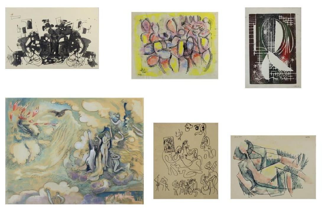 XCERON, Jean. Large Collection of Works on Paper - 2