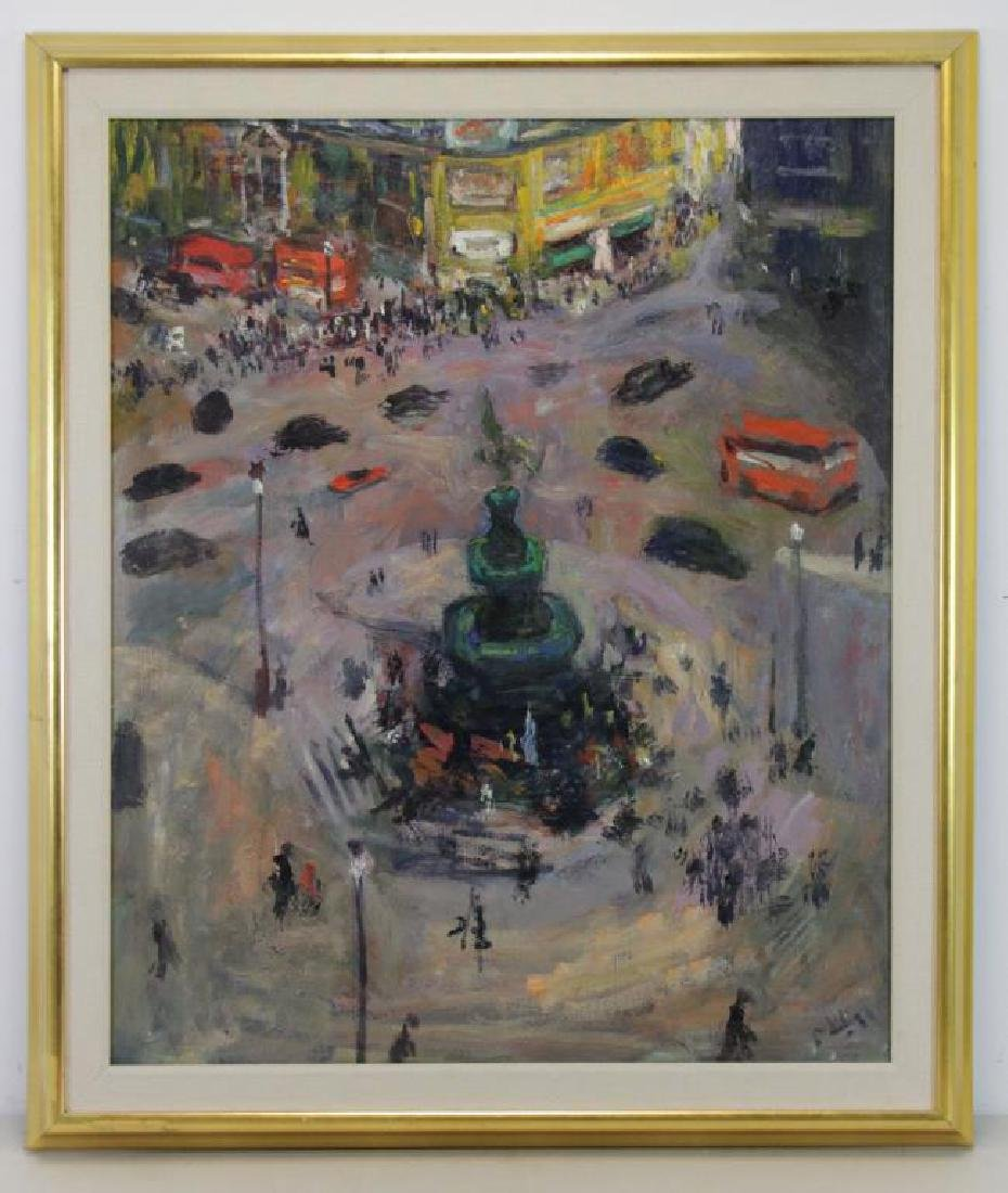 "PHILIPP, Robert. Oil on Canvas. ""Piccadilly Circus - 2"