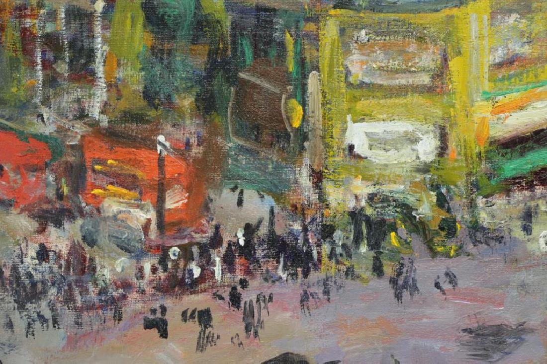 "PHILIPP, Robert. Oil on Canvas. ""Piccadilly Circus - 4"