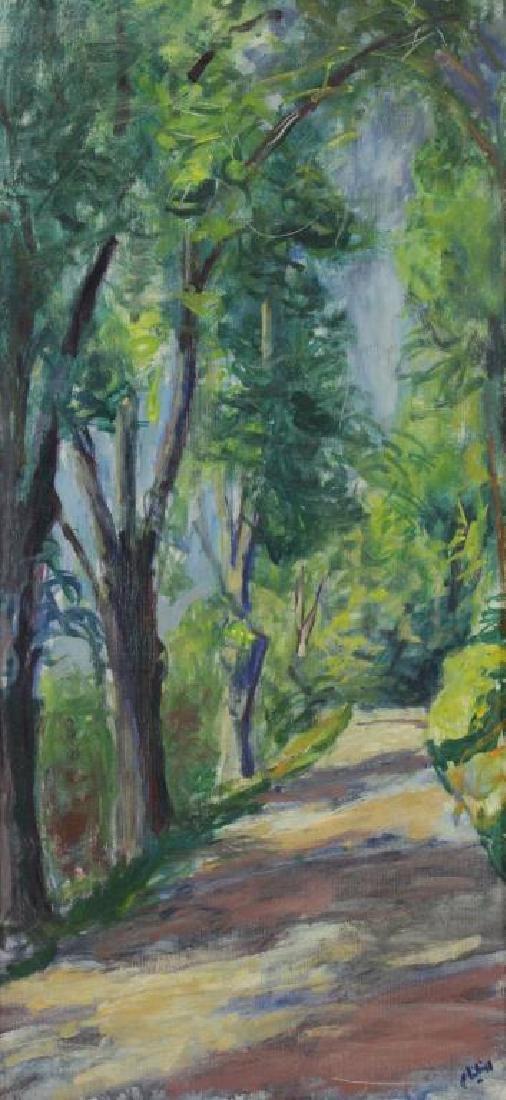 """PHILIPP, Robert. Oil on Canvas. """"Trees"""" 1964."""
