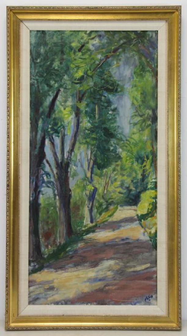 """PHILIPP, Robert. Oil on Canvas. """"Trees"""" 1964. - 2"""