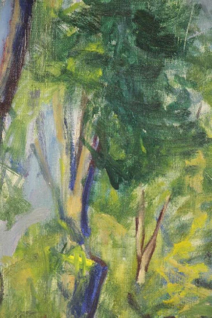 """PHILIPP, Robert. Oil on Canvas. """"Trees"""" 1964. - 3"""