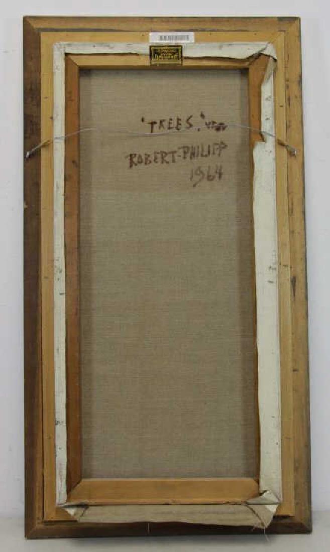 """PHILIPP, Robert. Oil on Canvas. """"Trees"""" 1964. - 5"""