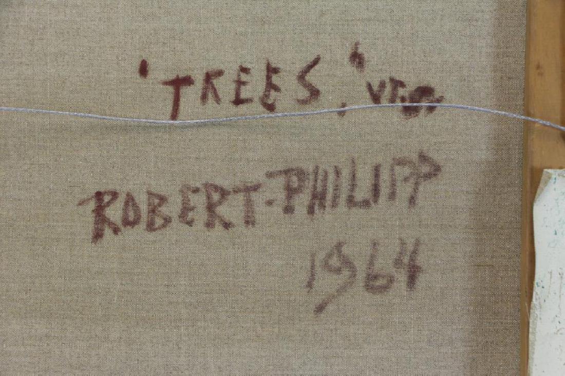 """PHILIPP, Robert. Oil on Canvas. """"Trees"""" 1964. - 6"""