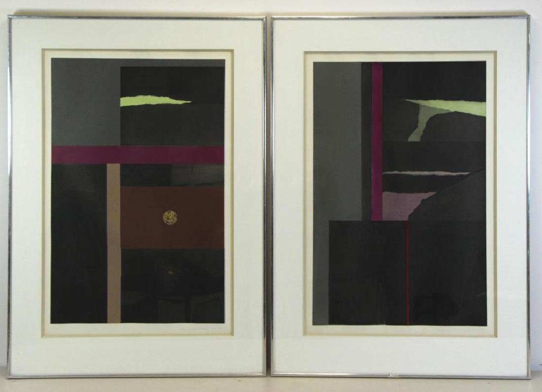"NEVELSON, Louise. Two (2) ""Aquatints"" Series"