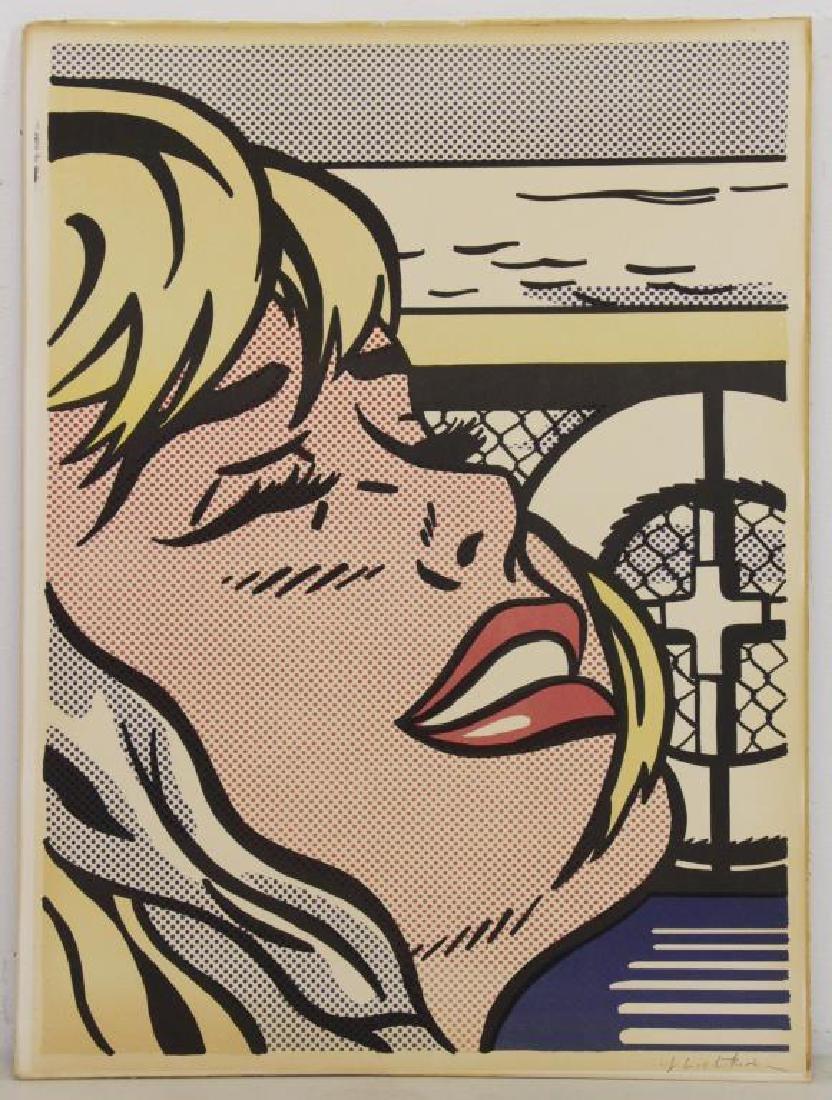 """LICHTENSTEIN, Roy. """"Shipboard Girl"""" Offset - 5"""