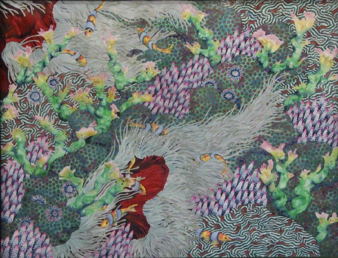 """JOHNSON, Andrea. Watercolor. """"Sea Anenome""""."""