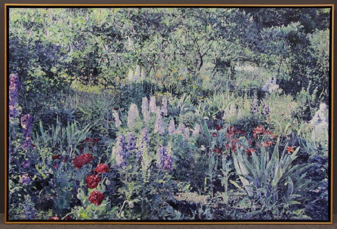 NICHOLS, William. Oil on Canvas. Flower Garden. - 2