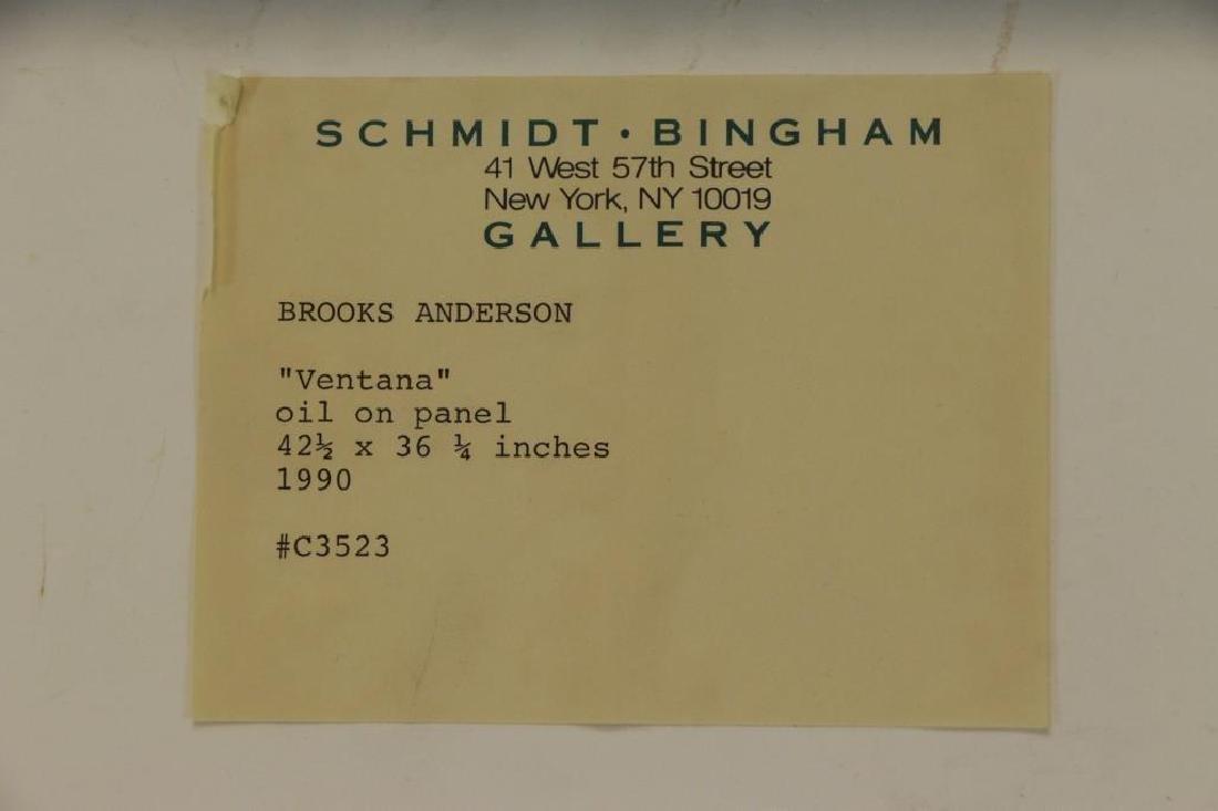 """ANDERSON, Brooks. Oil on Panel. """"Ventana"""" - 7"""
