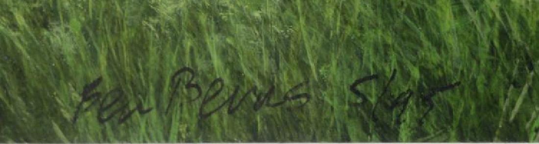 "BERNS, Ben. Oil on Paper. ""Near Steuben, NY - 5"