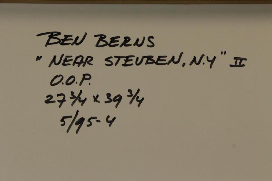 "BERNS, Ben. Oil on Paper. ""Near Steuben, NY - 8"