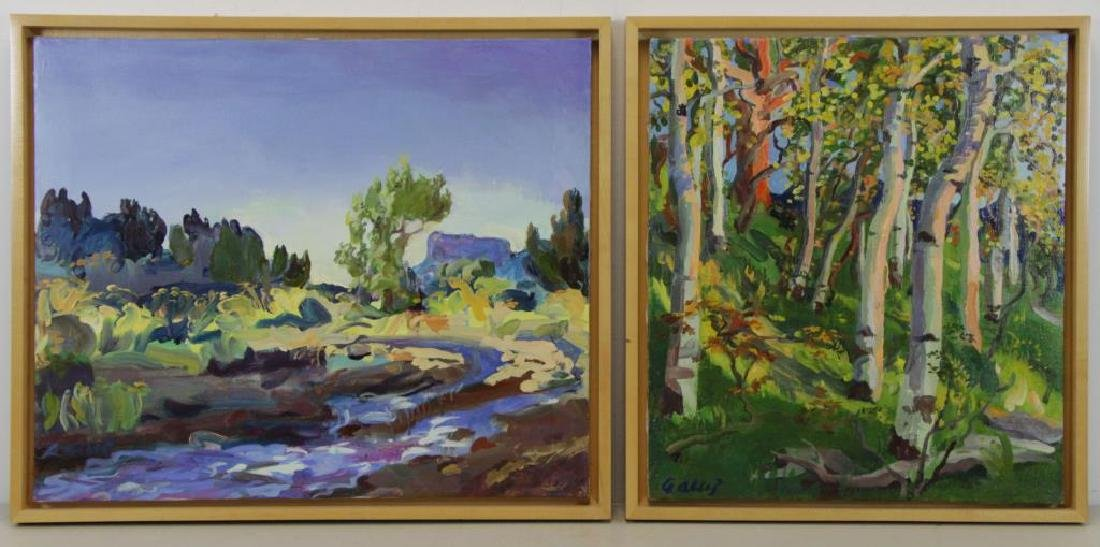 ALSOP, Adele. Two (2) Oil on Canvas Landscapes.