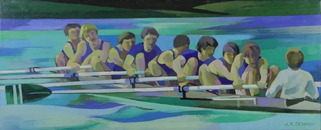 "SCHMIDT, James K. Oil on Canvas. ""Winning Spirit"