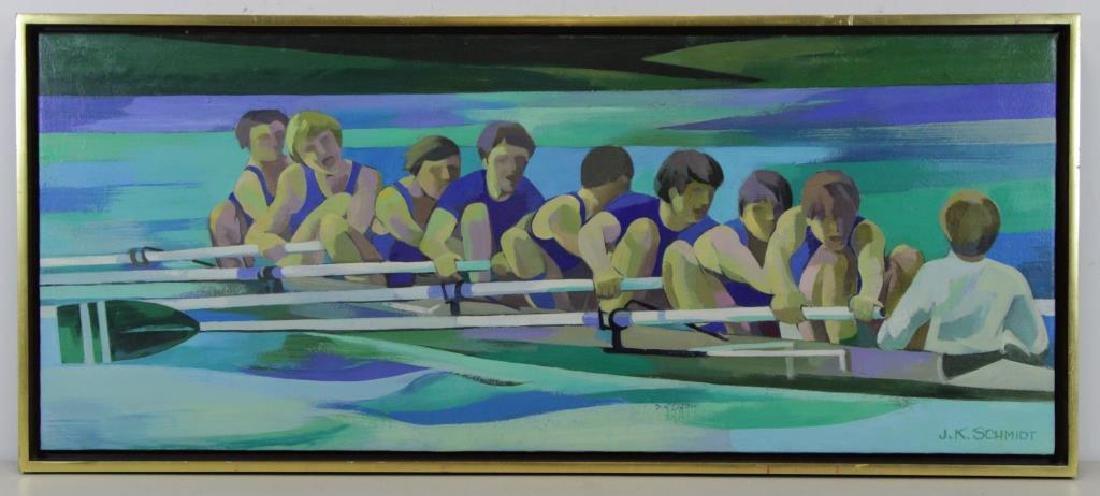 "SCHMIDT, James K. Oil on Canvas. ""Winning Spirit - 2"