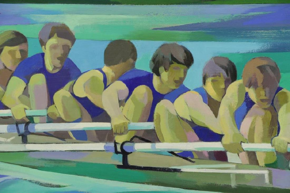 "SCHMIDT, James K. Oil on Canvas. ""Winning Spirit - 3"