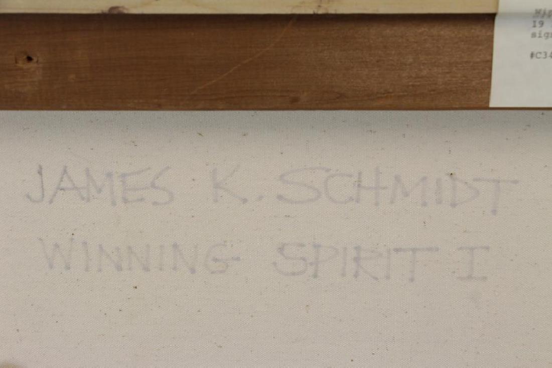"SCHMIDT, James K. Oil on Canvas. ""Winning Spirit - 7"