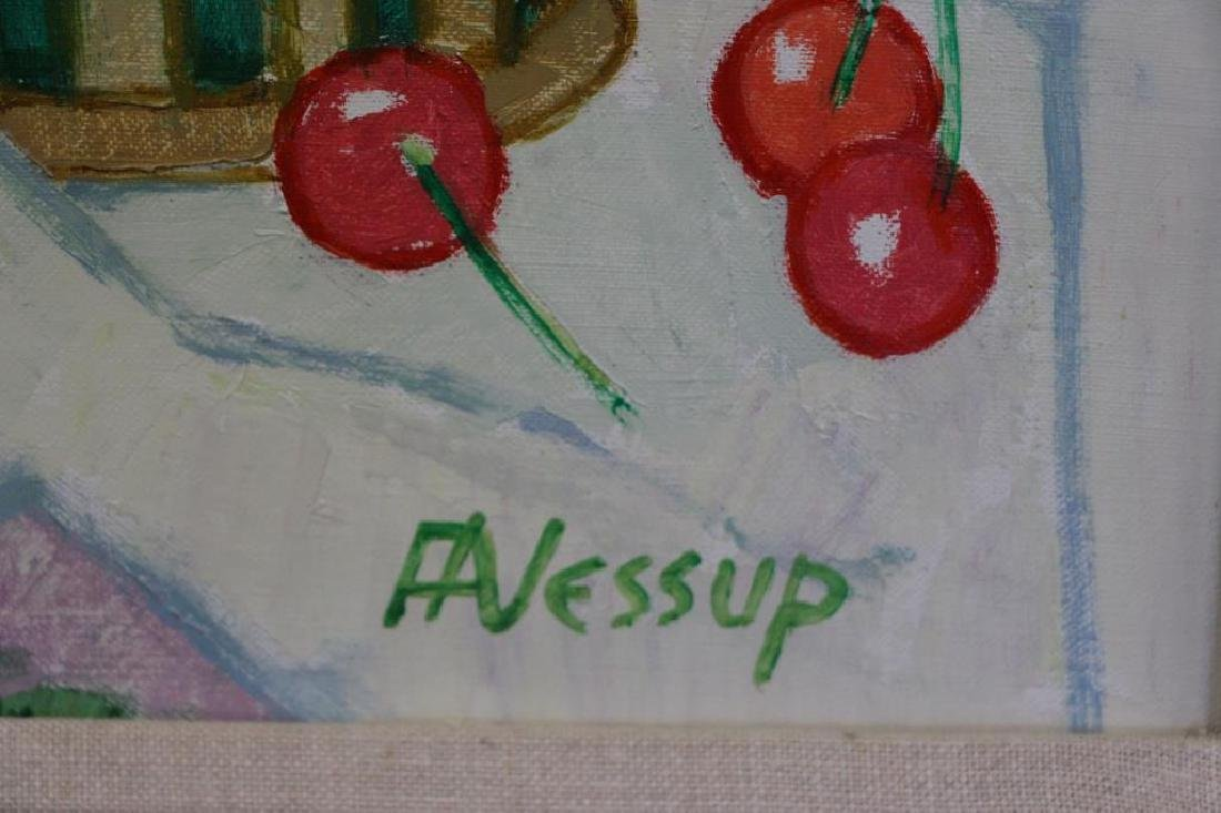 JESSUP, Frederick. Oil on Canvas. Still Life with - 5